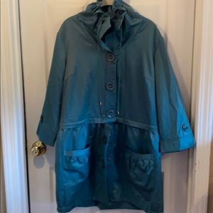 Sharon Young L teal jacket